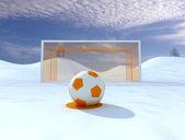 Winter Penalty — Stock Photo
