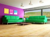 Contemporary interior — Stock Photo