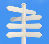 White directional sign post — Stock Photo