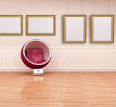 Ball chair in a classic interior — Stock Photo