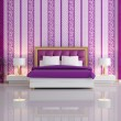 Royalty-Free Stock Photo: Luxury purple bedroom