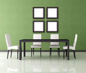 Modern dining room — Foto Stock