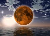 Orange moon — Stock Photo