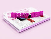 Gossip News on pink background — Stock Photo