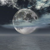 Full-moon over the ocean — Stock Photo
