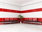 Sala de espera de rojo y blanco — Foto de Stock