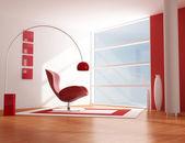 Sala de relax vermelho — Fotografia Stock