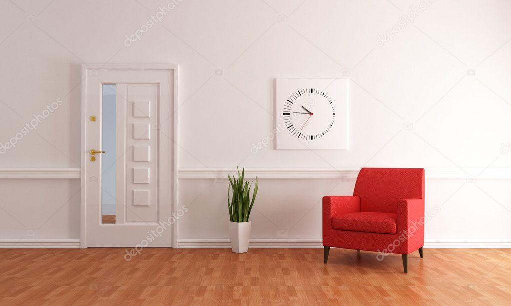 Foyer Minimalist Jobs : Minimalist home entry foyer — stock photo archideaphoto