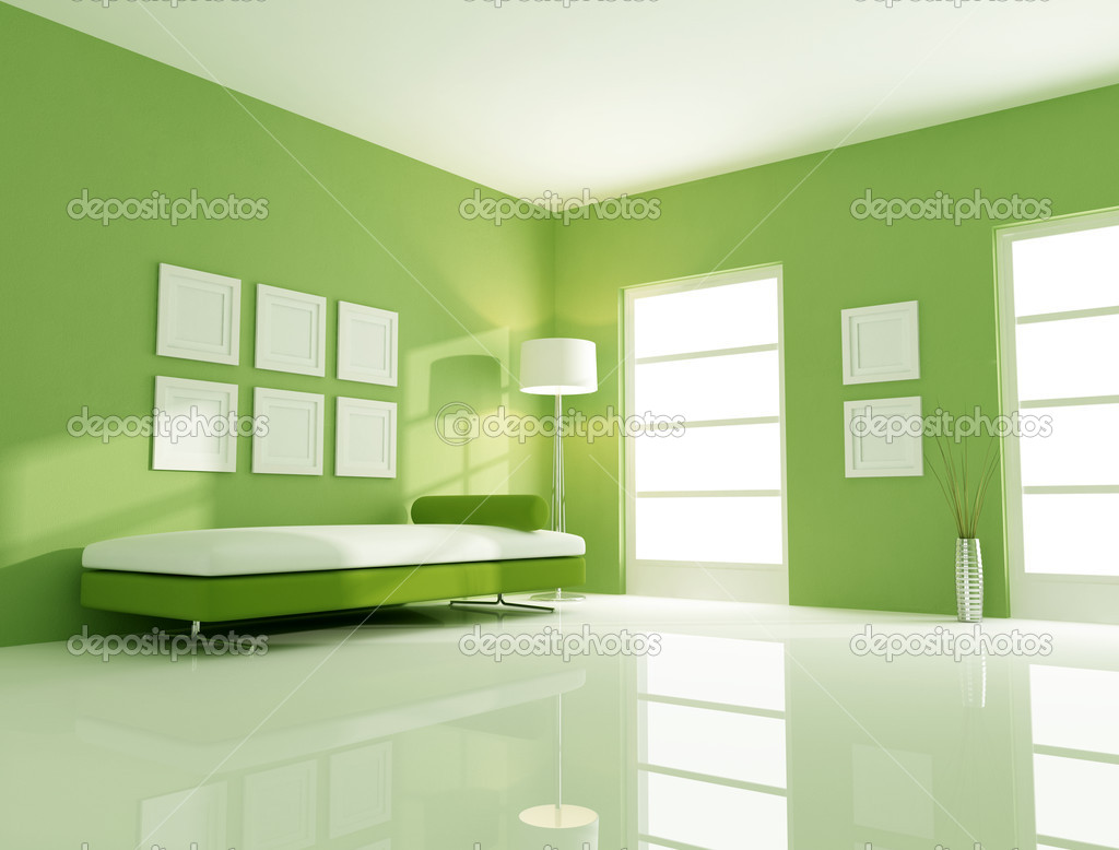 Green Bright Room Stock Photo Archideaphoto 4967621