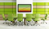 Sala riunioni verde — Foto Stock