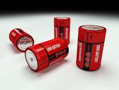 Virtual love battery — Stock Photo
