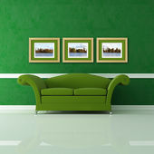 Green living room — Stockfoto