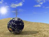 Arid globe — Stock Photo