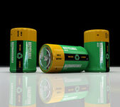 Recyclable and rechargeable battery — Stock Photo