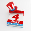 Fourth of july calendar — 图库照片
