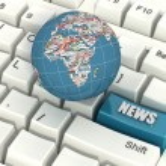 Internet news — Stock Photo