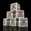 Stock Photo: Pyramid box news