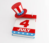 Fourth of july calendar — Stock Photo