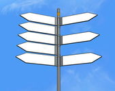 Eight empty directional sign post — Stock Photo