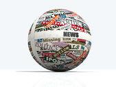 News globe — Stock Photo