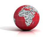 World news - europe and africa version — Stock Photo
