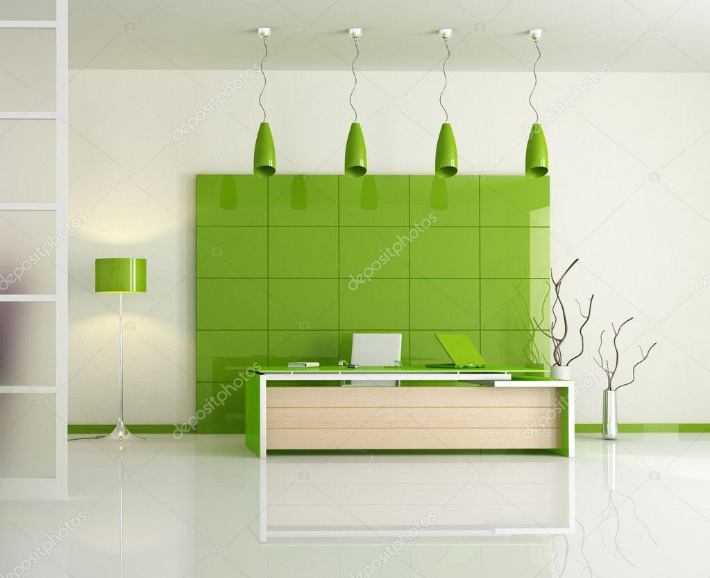 modern green office stock photo archideaphoto 5010640. Black Bedroom Furniture Sets. Home Design Ideas