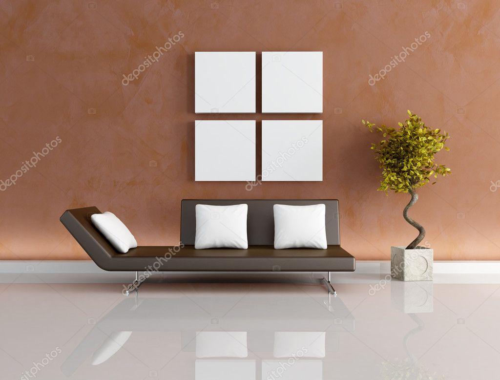 Soggiorno moderno marrone — Foto Stock © archideaphoto ...