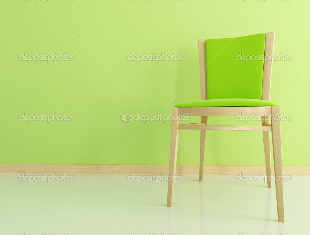 green wooden chair stock photo archideaphoto 5010913