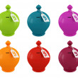 Set of multicolored moneybox — Stock Photo