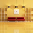 Empty bookcase in a living room — Stock Photo #5029489