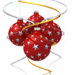 Four christmas ball — Stock Photo