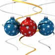 Three starry christmas ball — Stock Photo