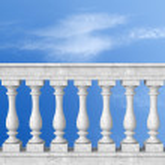 Stone white balustrade — Stock Photo