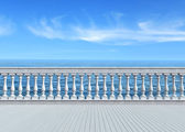 Terrace overlooking the sea — Stock Photo