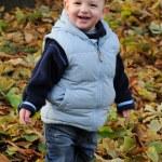 Fröhlich lachender kleiner Junge — Stock Photo