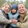 Постер, плакат: Family picture happy laughing parents and son