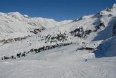 Skiing in Austria Kühtai — Stock Photo