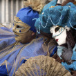 Costumed couple at Venice Carnival 2011 — Stock Photo