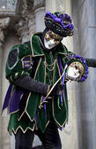 Man in joker costume at Venice Carnival 2011 — Stock Photo