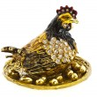 Precious hen with golden eggs — Stock Photo