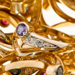 Golden rings - Stock Photo