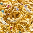 Golden rings collection — Stock Photo