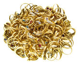 Bulk of golden rings — Stock Photo