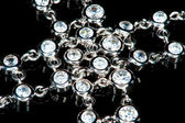 A diamond necklace (macro) — Stock Photo