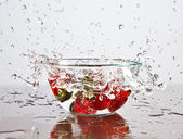 Strawberry splash — Stock Photo