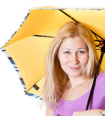 Portrait of a girl with an umbrella — Stock Photo