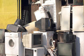 Dumping of household appliances — Stock Photo