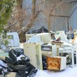 Stock Photo: Dumping of household appliance