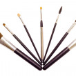 A set of brushes for applying makeup — Stock Photo
