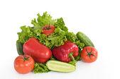 Pimenta alface tomate pepino — Foto Stock